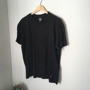 Black polo Ralph Lauren tee